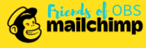 Mailchimp logo with Friends of OBS written over the top