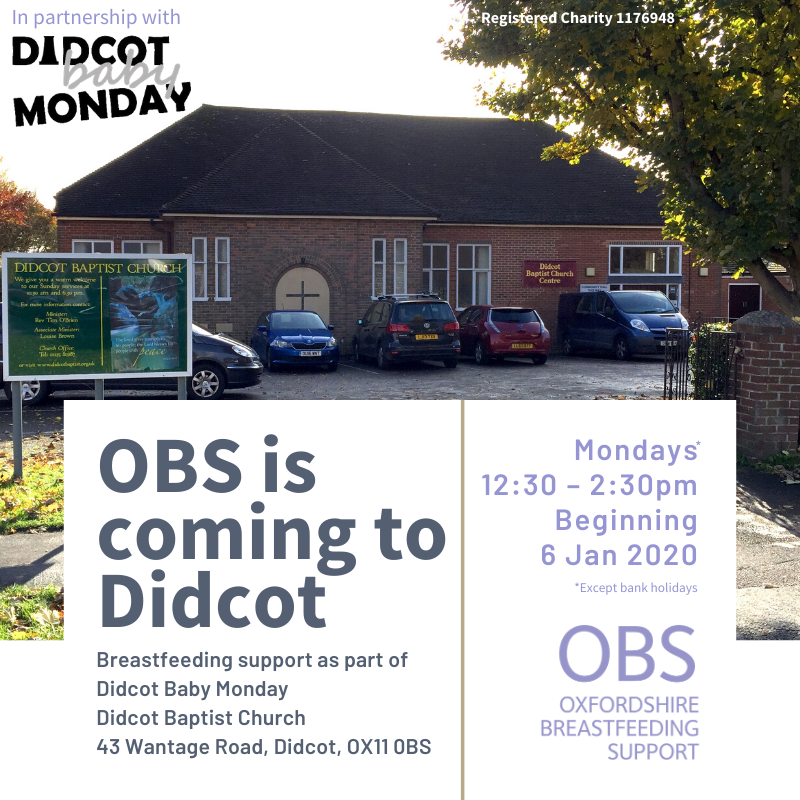 Didcot Baptist Church with details of new OBS session at Didcot Baby Monday